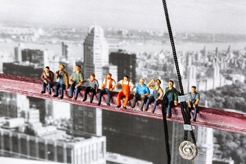 Arbeiter über New York von Sandra Perquin