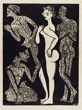 De vrouw en de mannen, ERNST LUDWIG KIRCHNER, 1937 van Atelier Liesjes