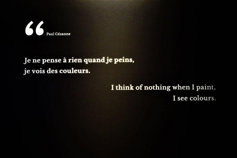 Zitat Paul Cezanne - Panorama XXL Rouen von Maurits Bredius