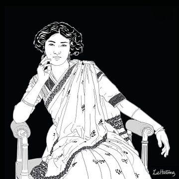 Porträt von Prinzessin Sudhira Devi von Zoë Hoetmer