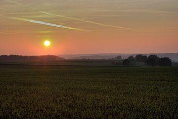 Sonnenuntergang Zuid Limburg von MSP Canvas