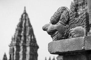 Sculptuur van Prambanan tempels op Java