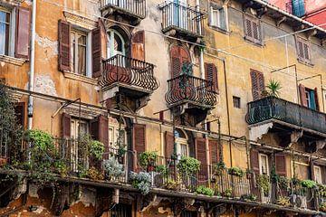 Balkons in Verona von Okko Huising - okkofoto