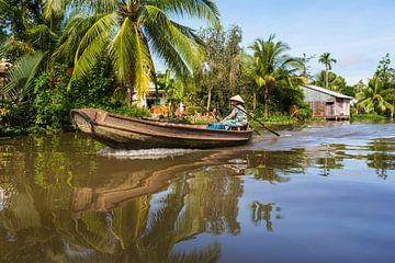Boot op de Mekong Delta van Henny Hagenaars