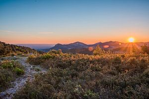 Zonsondergang Provence, Frankrijk van