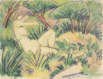 Akt in Landschaft, Otto Mueller - ca1923 von Atelier Liesjes