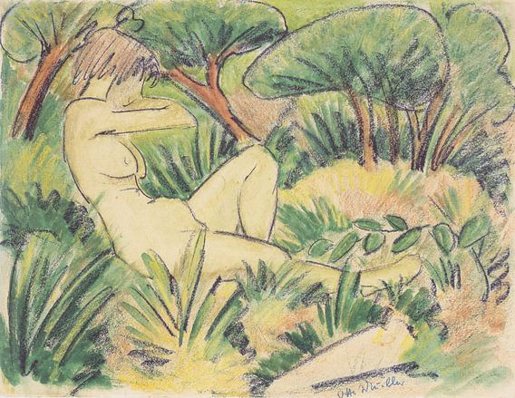 Akt in Landschaft, Otto Mueller - ca1923