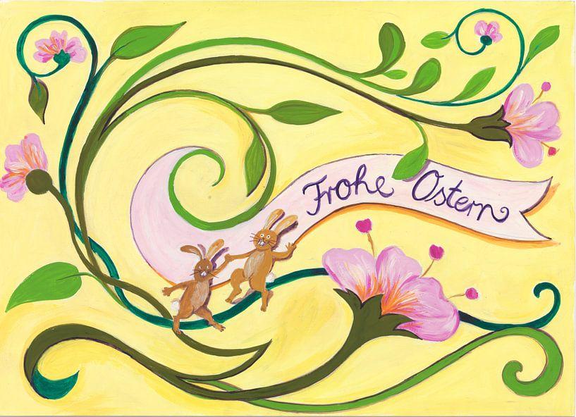 Frohe Ostern mit Blumen von Dorothea Linke