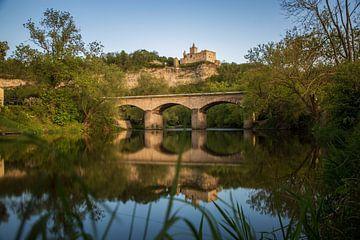 Rudelsburg aan de rivier de Saale van Sergej Nickel