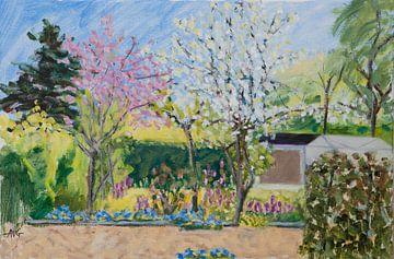 Frühling im Volksgarten von Antonie van Gelder Beeldend kunstenaar