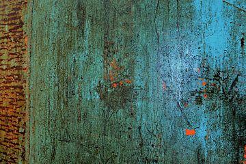 Muur van de luchtfabriek (aqua). van Marian Klerx