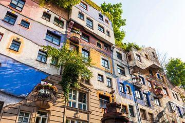 Hundertwasserhuis in Wenen van Werner Dieterich