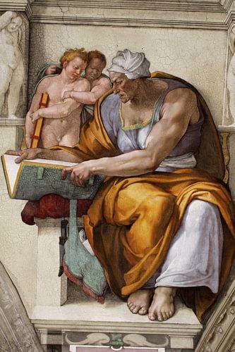 Michelangelo. Sixtijnse Kapel, Sibille Cunaea van 1000 Schilderijen