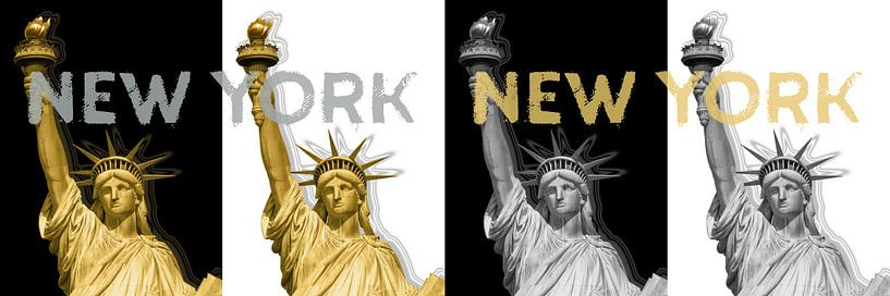 POP ART Statue of Liberty   New York New York   panorama van Melanie Viola