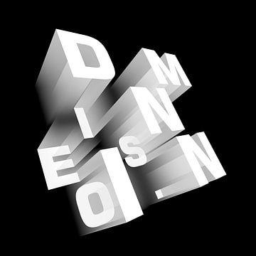 Dimensieperspectief zwart-wit van Jörg Hausmann
