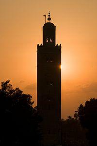 Zonsondergang Koutoubia moskee Marrakech