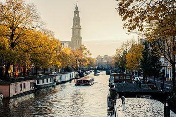 """Jordaan richting de Westerkerk """"Herfst"""" van Charles Poorter"""