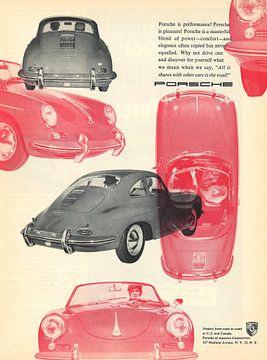VINTAGE ADVERTENTIE 1961 PORSCHE 356 van Jaap Ros
