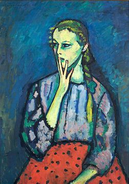 Alexej Jawlensky, Porträt eines Mädchens, 1909 von Atelier Liesjes