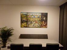 Kundenfoto: Der Garten der Lüste (Hieronymus Bosch - Triptychon), auf leinwand