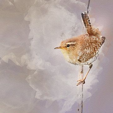 Het winterkoninkje van Art by Jeronimo
