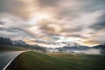 Watzmann uitzicht in de Berchtesgadener Alpen van road to aloha