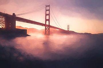 Golden Gate - Schilderij van Joris Pannemans - Loris Photography
