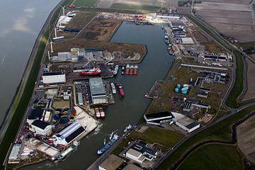 Industriehaven Harlingen (luchtfoto) van