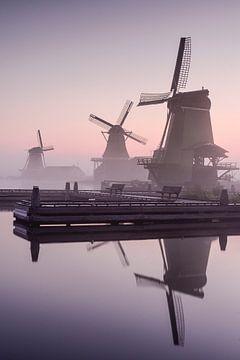 Niederländische Windmühlen auf der Zaanse Schans von Michael Klinkhamer
