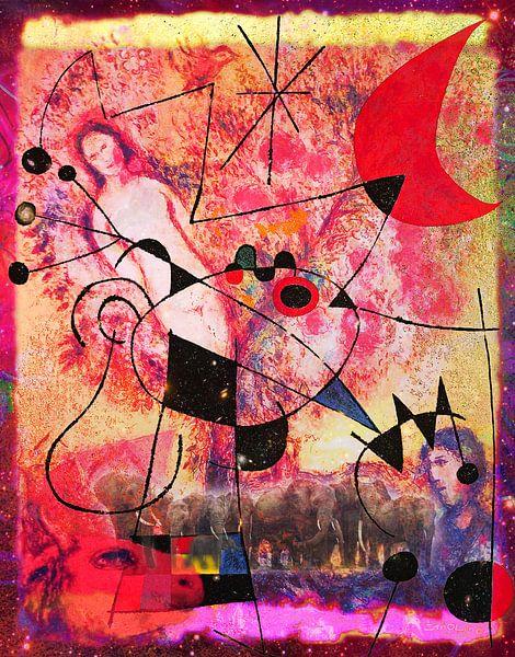 Kunstparty mit Chagall Miro Rothko Brandt und Zanolino von Giovani Zanolino