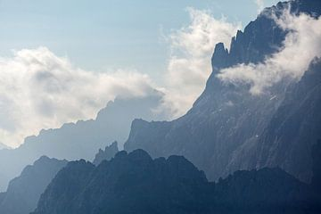 Silhouetten Karwendelgebergte