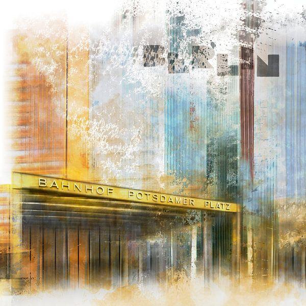 City-Art BERLIN Potsdamer Platz van Melanie Viola