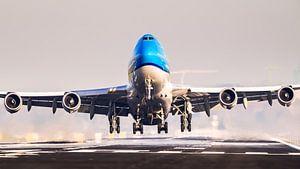 KLM 747 take-off vanaf de Kaagbaan van