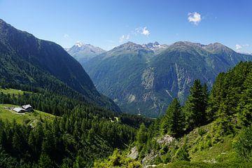 Uitzicht op de Oetztaler Alpen, Tirol (Oostenrijk) van Kelly Alblas