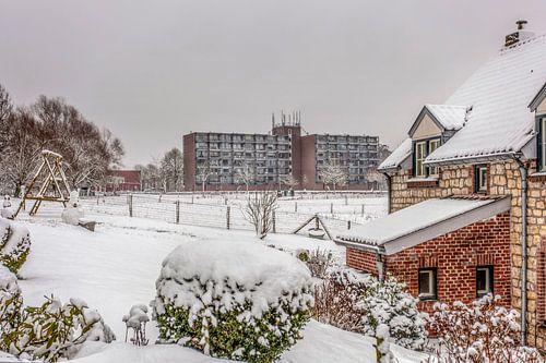 Sterflats Simpelveld in de sneeuw