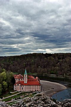 Klooster Weltenburg van bovenaf van Roith Fotografie