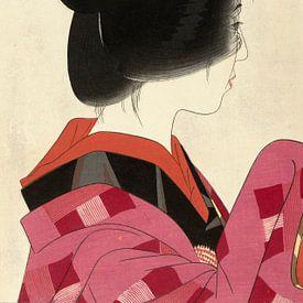 Rode kraag, Yamakawa Shuho van 1000 Schilderijen