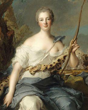 Jeanne-Antoinette Poisson, Marquise de Pompadour als Diana die Jägerin, Jean-Marc Nattier