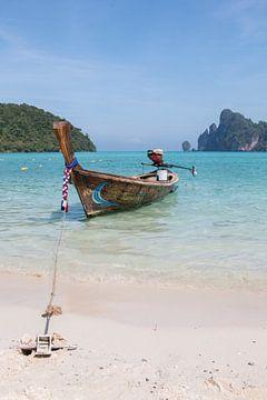 Hét vervoermiddel van veel eilandbewoners van Koh Phi Phi, Thailand. van
