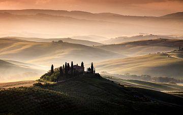 Ein toskanischer Land Landschaft, Sus Bogaerts von 1x