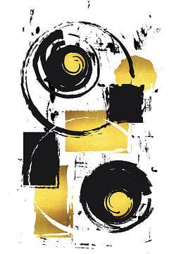 Abstracte schildering nr. 37 | goud van Melanie Viola
