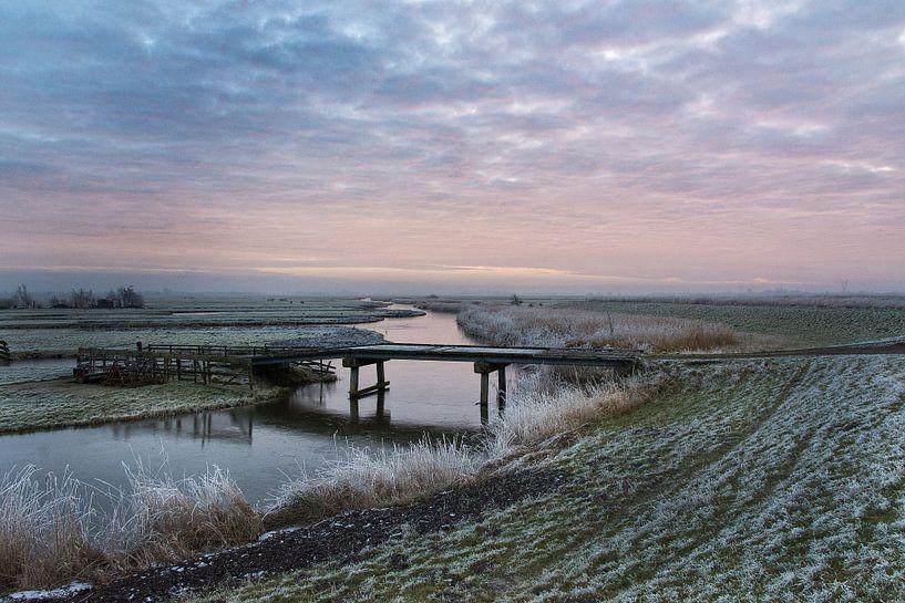 Winterlandschap in de Schermer van Ellen van Schravendijk