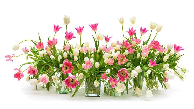 Tulpen Stilleven van Dirk Verwoerd