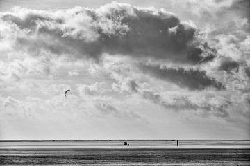 Kitebuggy auf See von Barbara Brolsma