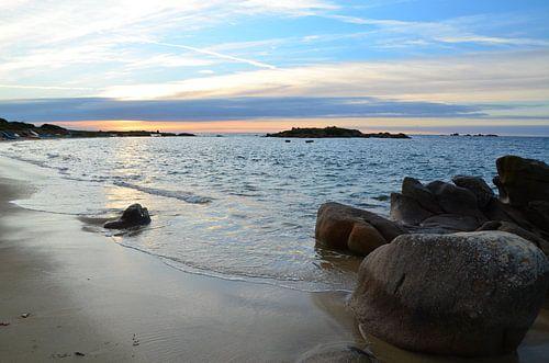 Landrellec, Sunset in Brittany van