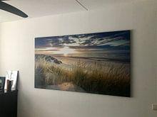 Kundenfoto: Sonnenuntergang über dem Strand von Ameland. von Karel Pops, auf leinwand