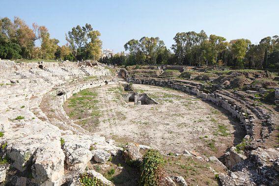 Römisches Amphitheater, Archäologischer Park Syrakus, Syrakus, Sizilien, Italien, Europa