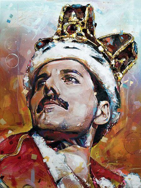 Freddie Mercury malerei von Jos Hoppenbrouwers