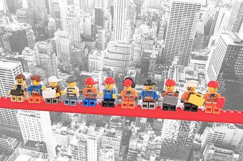 Lunch atop a skyscraper Lego edition - New York van