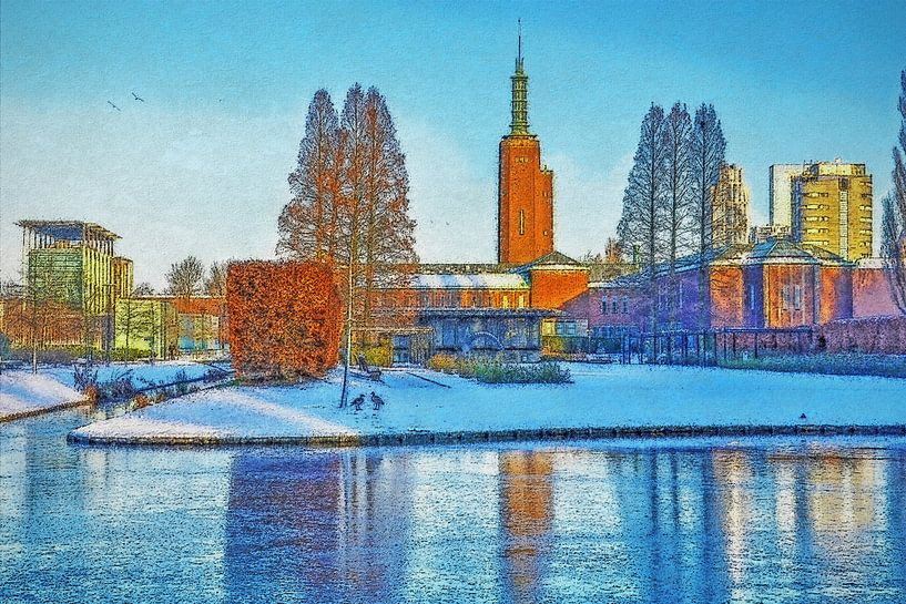 Winterbeeld Museumpark van Frans Blok